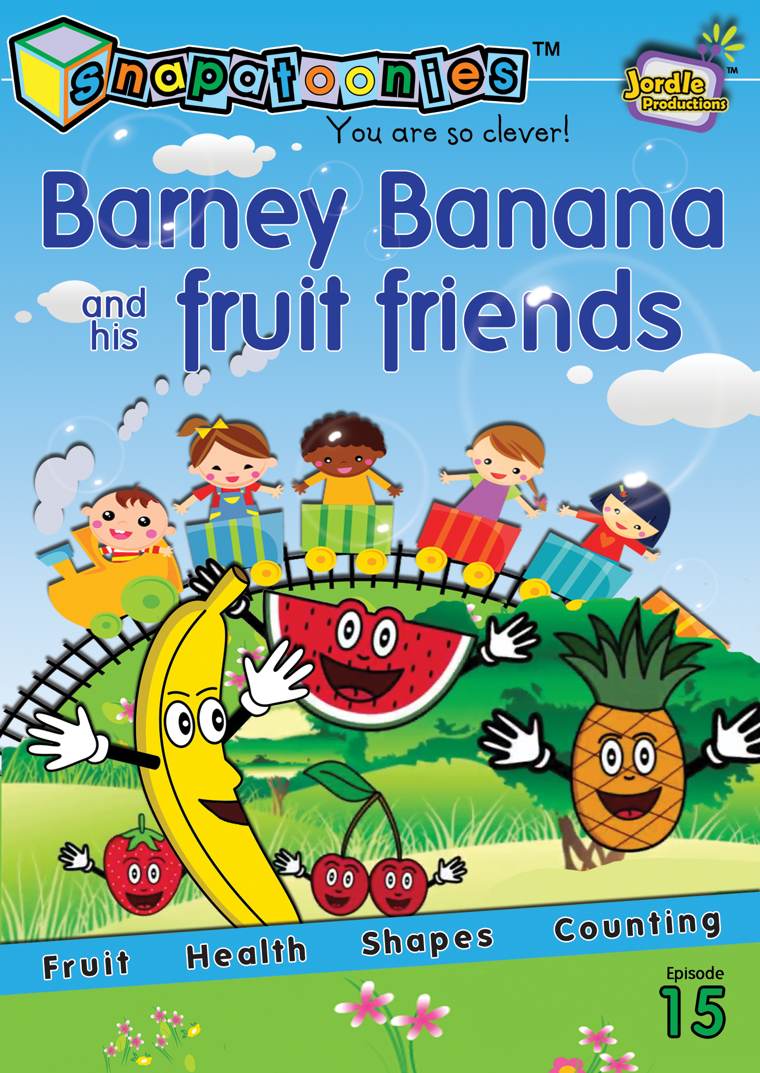 Snapatoonies Barney Banana and his fruit friends